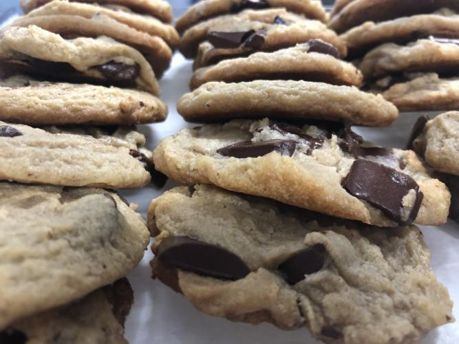 Now serving delicious cookies!!! *available in chocolate chunk & white chocolate macadamia